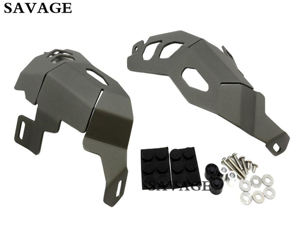 Серый Головки цилиндров для автомобиля гвардии Protector Чехлы для мангала для BMW R1200GS Adventure 2014-2017 15 16