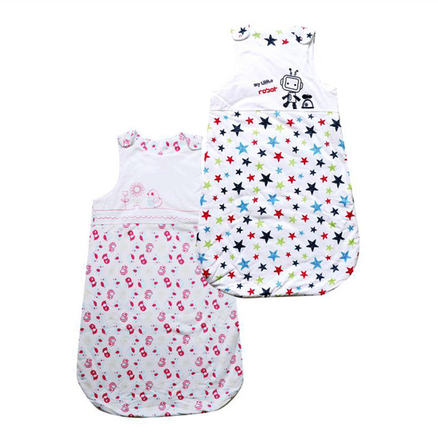 New Arrival Newborn Sleeveless Baby Sleeping Bag Print Cartoon 100% Cotton Kids Sleeping Bag 0 - 1 year
