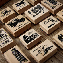 Vintage World view series wood stamp DIY craft wooden rubber stamps for scrapbooking stationery standard