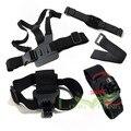 Suptig para gopro accesorios go pro mount harness pectoral head mount para gopro hero4 hero3/3 +/2 silver edition todos sjcam