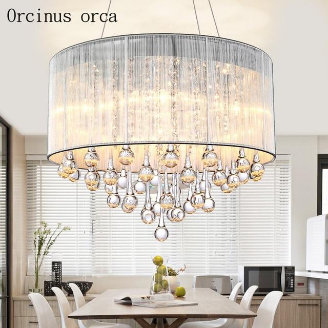 US $186.8 |Moderno e minimalista di cristallo di modo lampadario camera da  letto studio ristorante personalizzato creativo LED rotondo Lampadario di  ...