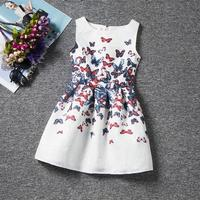 Flower Princess Dress Girl Clothing For Dresses Summer Teenagers Butterfly Print Party Dress Vestidos Kids Costume