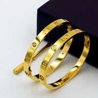 Bracelets de luxe en titane Design classique Bracelets avec tournevis amoureux Bracelet Bracelet en or Rose amour vis Bracelet