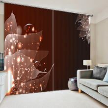 Коричневый занавес s мечта занавес роскошный затемнение 3D занавес s для гостиной спальни
