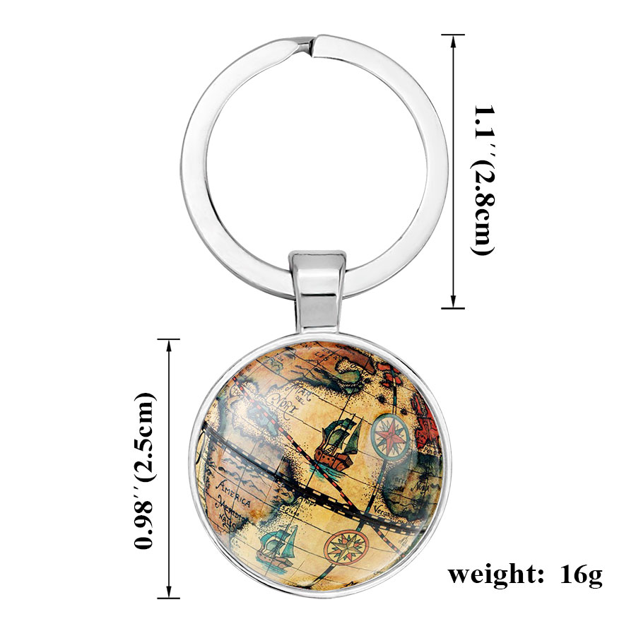 Ningxiang silver color globe camera earth world map key chain glass ningxiang silver color globe camera earth world map key chain glass cabochon key ring car key holder accesary women men gift in key chains from jewelry gumiabroncs Gallery