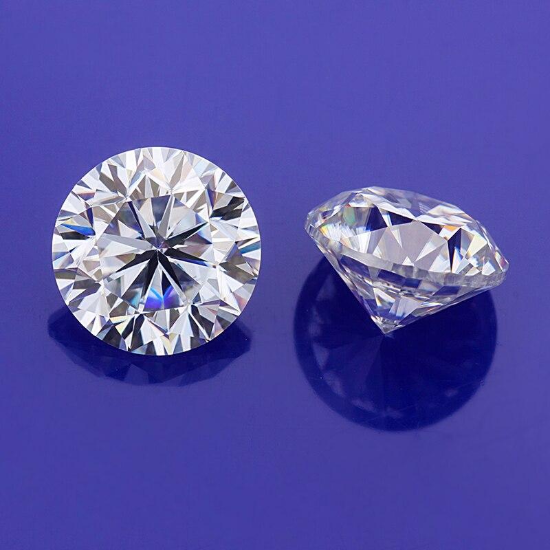 1.5ct EF муассаниты круглой формы 7,5 мм ювелирных изделий драгоценных камней - 2