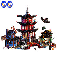 Ninja Temple Of Airjitzu Ninjagoes Smaller Version Bozhi 737 Pcs Blocks Set Compatible With LXgo Toys