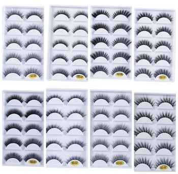 NEW 250 pairs 100% Real Fake Mink Lashes 3D Natural False Eyelashes 3d Mink Eyelashes Soft Eyelashes Extension Makeup Kit cilios - DISCOUNT ITEM  23% OFF All Category