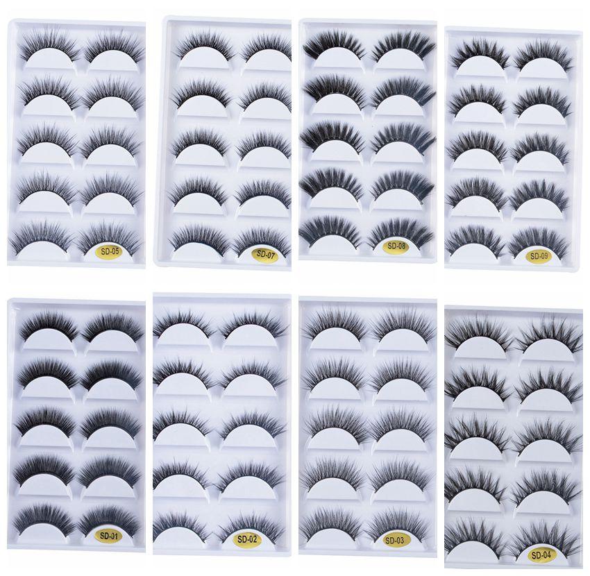Nuevos 250 pares 100% pestañas de visón falsas reales 3D pestañas postizas naturales pestañas de visón 3d pestañas suaves Kit de maquillaje de extensión de pestañas cilios-in pestañas postizas from Belleza y salud on AliExpress - 11.11_Double 11_Singles' Day 1