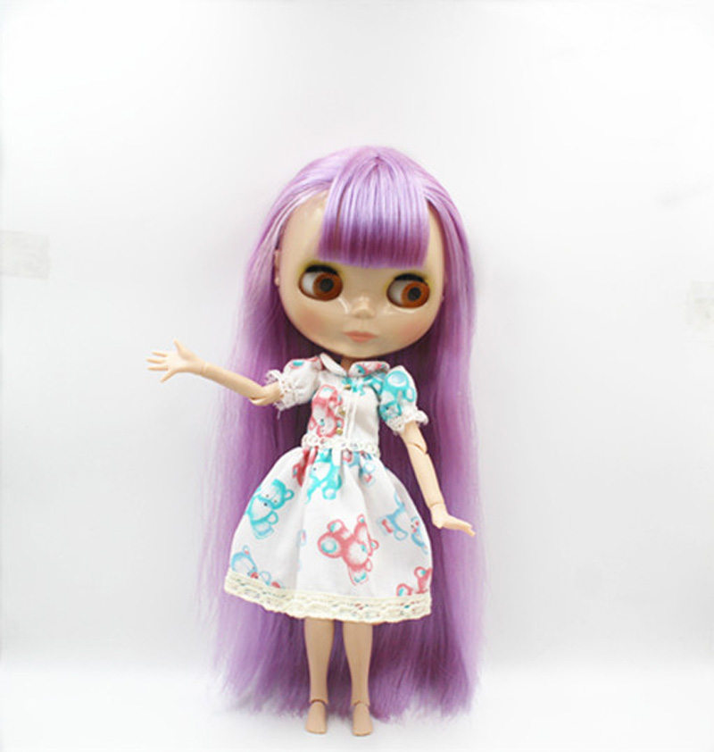 Free Shipping BJD joint RBL-382J DIY Nude Blyth doll birthday gift for girl 4 colour big eyes dolls with beautiful Hair cute toy luodoll bjd doll sd doll 1 4 girl luts hodoo bjd doll gift free eyes free make up
