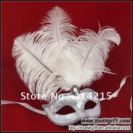 Свадебный шар красивая белая и серебряная Свадебная маска, маска с перьями, Маскарадная маска