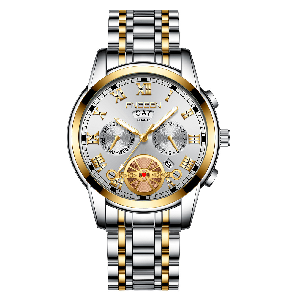 Man Watch Erkek Kol Saati Top Brand Quality Quartz Wrist Watches for Men Clock Date Week Display Luminous Decoration Men's Watch