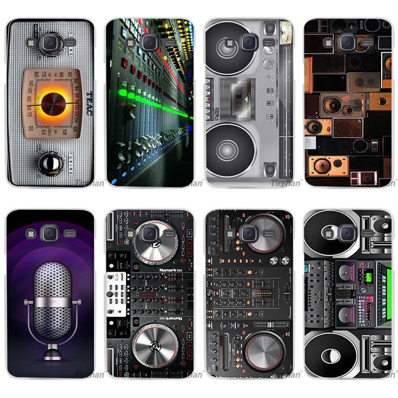 DJ Radio Music Old chip Clear Case Cover Coque Shell for Samsung Galaxy J1 J2 J3 J5 J7 2016 2017 Emerge