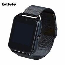 Bluetooth z60 smart watch edelstahl leder stahl smartwatch unterstützung sim tf-karte kamera anruf sms erinnern für ios android