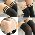 New autumn  Winter Fashion Women's Plus Cashmere Tights Velvet  Warm Thick Tights Girls Cute Sexy Pantyhose Over Knee Stockings