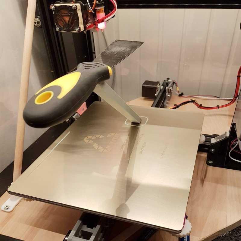 ENERGETIC 3D พิมพ์ถอดออกได้ฤดูใบไม้ผลิเหล็ก PEI สร้างพื้นผิว Flex แผ่น 235x235 มม.สำหรับ Ender-3 3D เครื่องพิมพ์