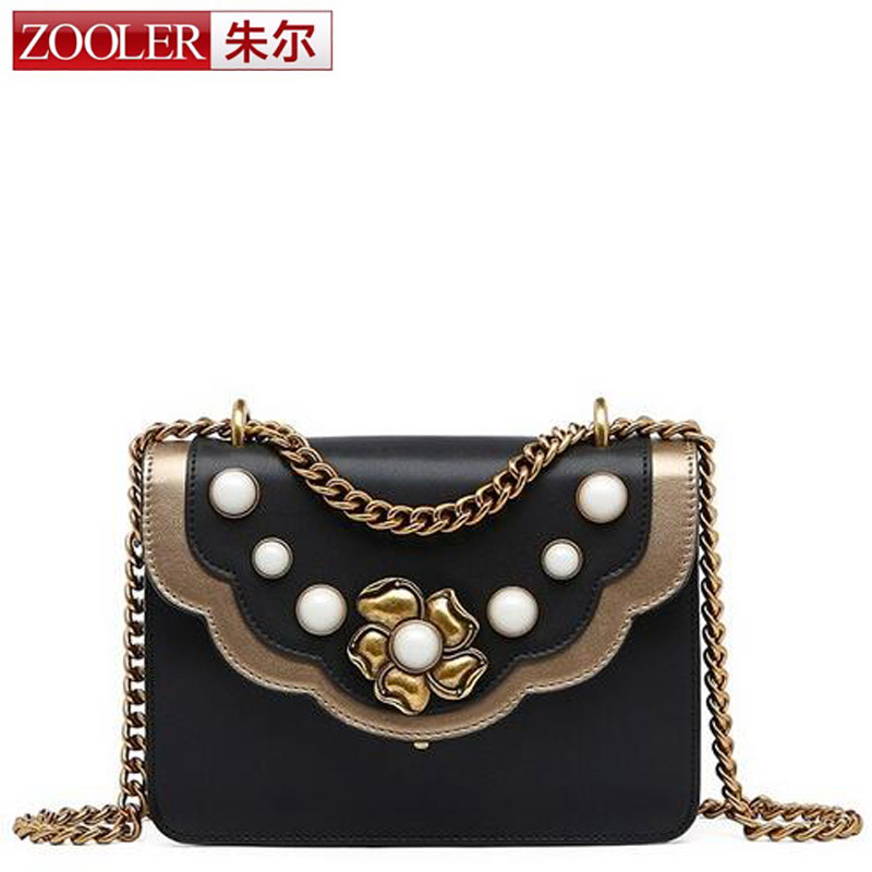 ZOOLER Hot Sale Women Genuine Leather Bag Popular Fashion Brand Design High Quality Real Cowskin Shoulder Bag Small Chain Bag yuanyu 2018 new hot free shipping true python leather women single shoulder small real snake leather small sweet women chain bag