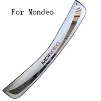 High quality stainless steel Rear Bumper Protector Sill Trunk Tread Plate Trim for Ford Mondeo 2007 to 2012 Auto parts