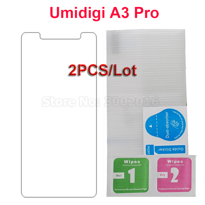 2PCS Tempered Glass For UMIDIGI A3 Pro Cover Screen Protector 9H Toughened Smartphone film For UMIDIGI A3 Pro 4G Glass Protector