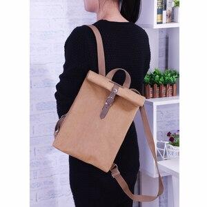 Image 2 - Tasarımcı Yıkanabilir Kraft Kağıt Kadın Sırt Çantası Kadın okul çantası yüksek kaliteli sırt çantası Hafif Çok Amaçlı Iş Bilgisayar Çantası