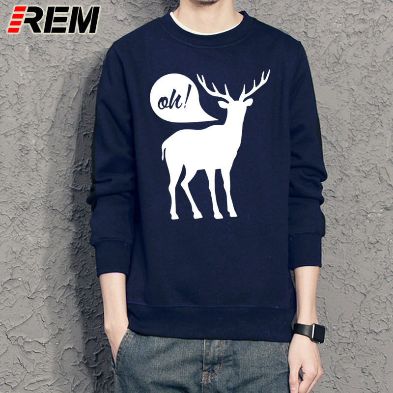 REM Sweatshirts Oh Deer Designer Graphic Funny Hoodies Cotton Mens Dear Cool Funky Hoodies Unisex Sweatshirts