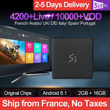 Leadcool S1 4K IPTV France Box Android 8.1 RK3229 with 1 Year SUBTV IPTV Subscription IPTV French Arabic Belgium Netherlands
