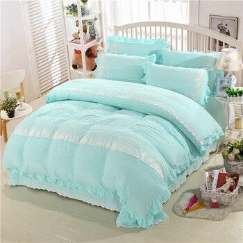 BeddingOutlet Wedding Decor Bedding Set Bedspread Qualified Bedclothes Unique Design No Fading Duvet Cover Bedspread Dark Blue