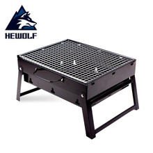 Outdoor camping picnic BBQ 2-4 people folding easy to carry home charcoal barbecue box