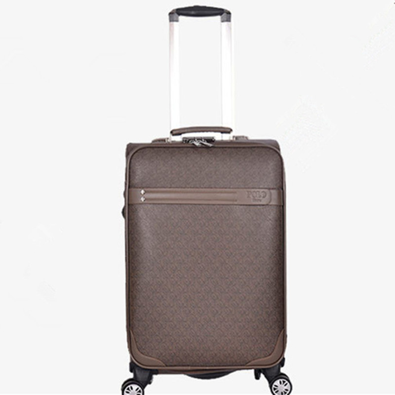 BOLO BRAVE 20 24 inch wheel suitcase font b bag b font PU Commerce trolley healthy