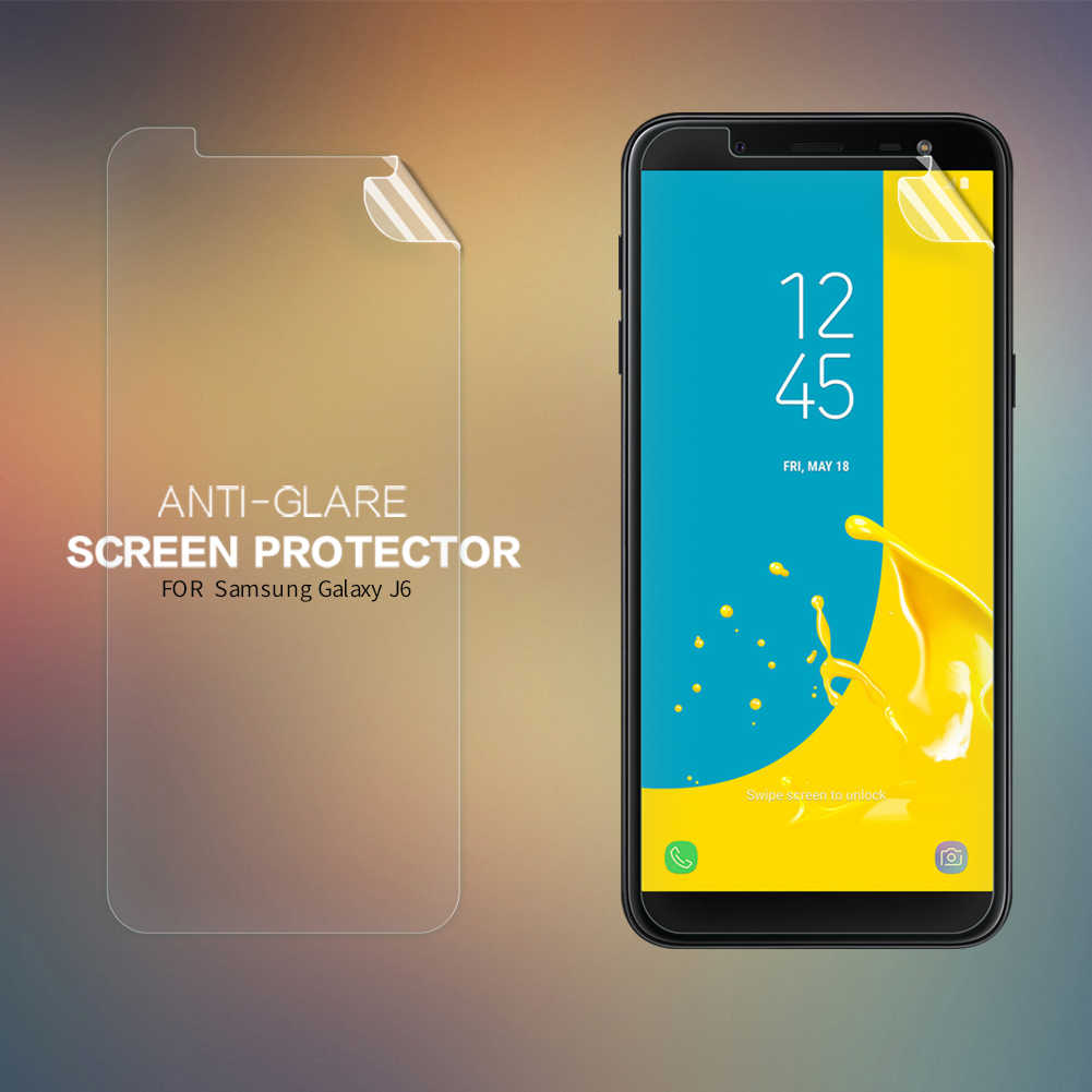 for Samsung J6 Screen Protector Nillkin Clear / Matte Soft Plastic Film for  Samsung Galaxy J6 2018 J600F J600 SM-J600F Not Glass