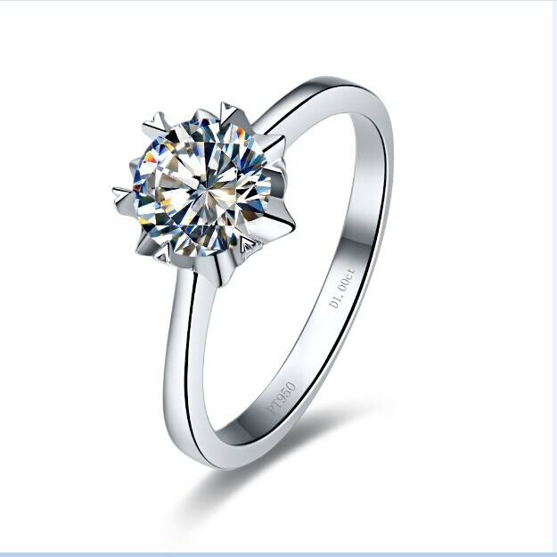 New Design 1CT Snow Flake Style Certificate Moissanite Ring Test