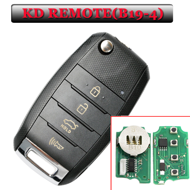New Arrival free shipping B19-4 KD remote 4 Button Remote Key for URG200/KD900/KD200(1 piece) 2016 new arrival key replacement for mercedes benz ak500 key programmer external hdd 320g free shipping
