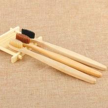 1 шт. экологическая зубная щетка с бамбуковым углем для ухода за полостью рта для чистки зубов, эко щетки со средней мягкой щетиной