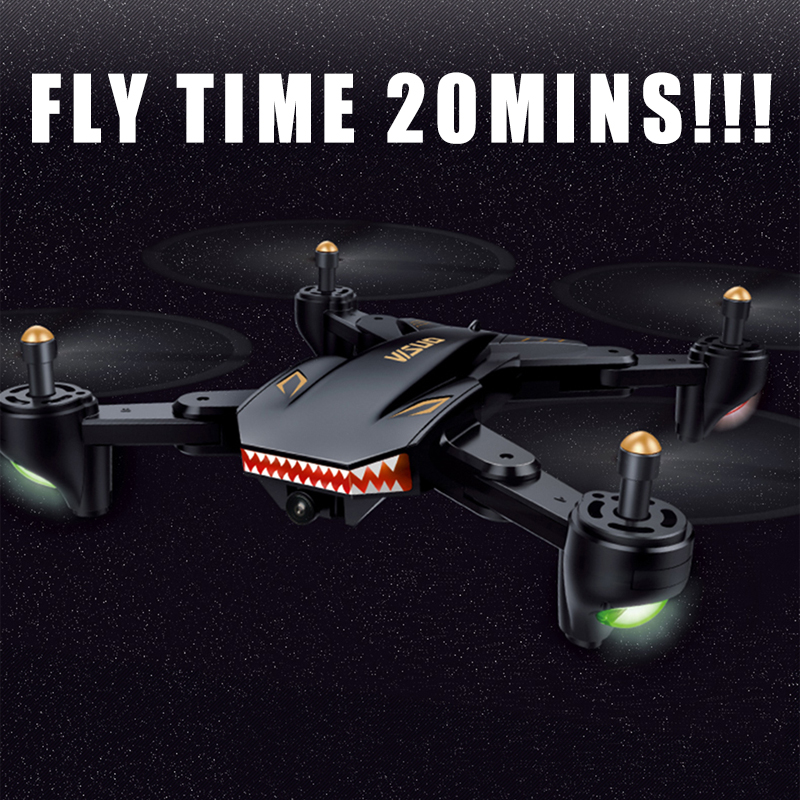 XS809HW XS809W RC Helicopter Foldable Selfie Drone with Camera HD 0.3MP/2MP Wide Angle WIFI FPV Altitude Hold Quadcopter VS H47 xs809w refit models xs809 shark foldable selfie rc drone with camera altitude hold fpv quadcopter wifi app control rc helicopter