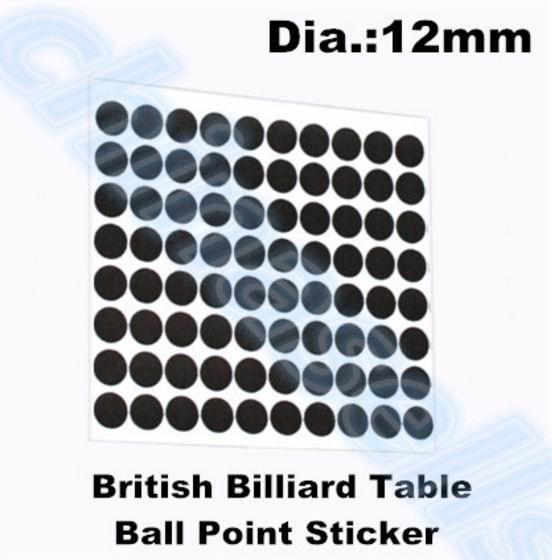 50 conjuntos de 12mm 96 pcs ponto de bilhar snooker localizadores bola  branca de localizador adesivo adesivos Mesa de bilhar bola branca Bola  ponto Adesivo 610583365fd44