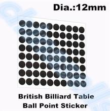 50sets 12mm 96pcs point snooker pool billiard white ball locator sticker cue ball locators stickers Table Ball Point Sticker все цены