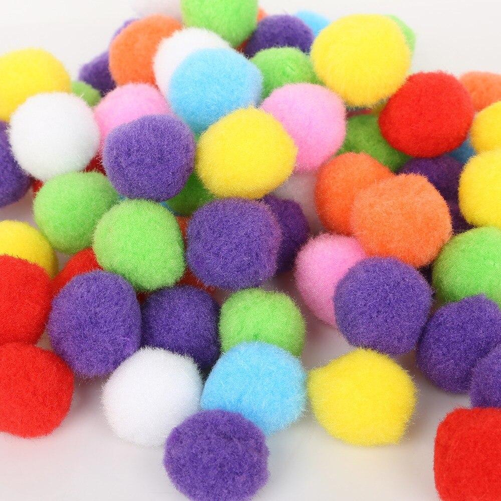 100-500PCS Assorted Color 10 15 20 25 30mm Round Pompom Soft Pom Pom Balls For DIY Kids Toys Wedding Artical Flower Accessories