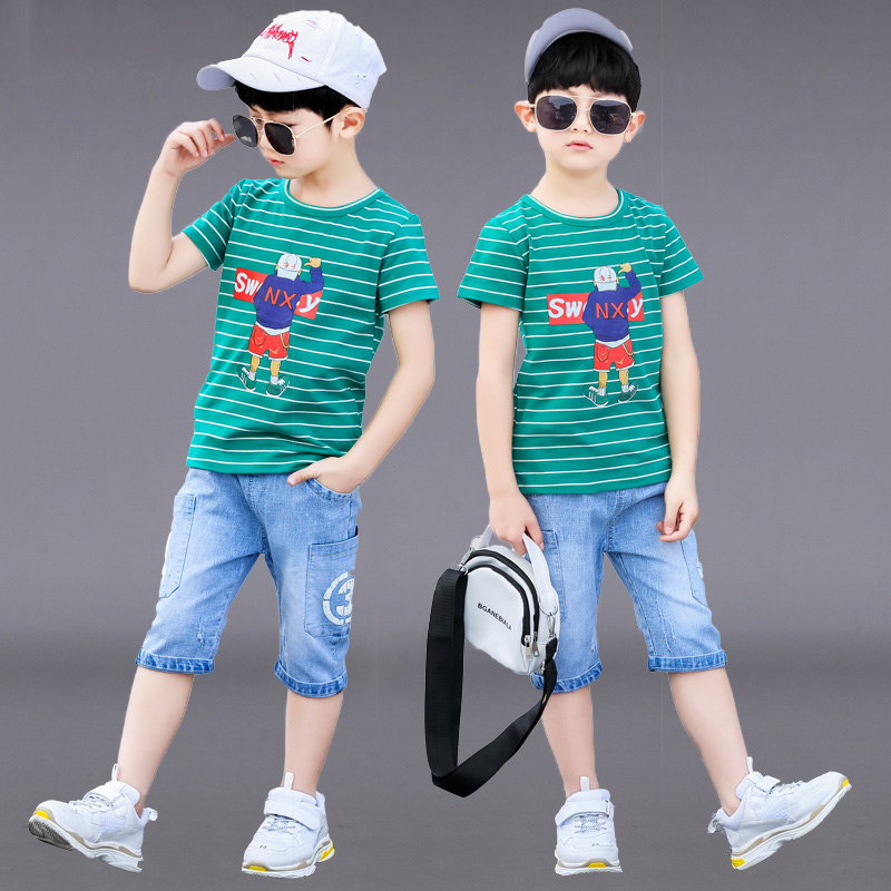 New 2019 Children's Kids Boys Summer Clothing Sets T Shirt And Shorts Sports Tracksuit For Boys Set 6 8 9 10 12 14 Years Old