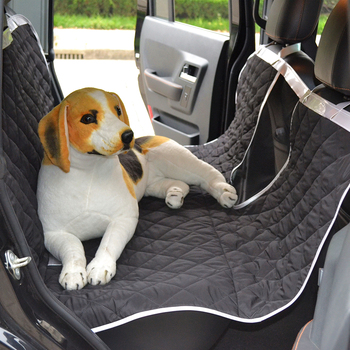 Pet Car Seat Covers Water Resistant Polyester Pongee Dog Cat Hammock Seat Cover with Dogs Viewing Window for Cars Trucks and SUV