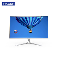 Ipason P11 21.5inch All in one Gaming Desktop Computer Intel 4 Core 8G DDR4 RAM 240G SSD 3000R Curved Narrow Border,Silver white