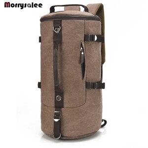 Image 1 - Männer Tasche Leinwand Rucksack Große Kapazität Mann Reisetasche Bergsteigen Rucksack Hohe Qualität 2 größen Zurück Pack