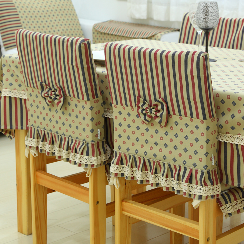 Clic Fabric Dining Chair Cloth Nostalgia Sets At Home Decoration American Style Covers Cover In From Garden On