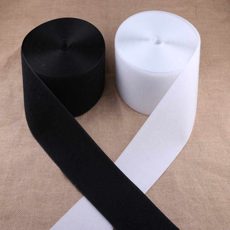 1M/pair Black/White Nylon Adhesive Fastener Tape Hook And Loop Diy For Garment Shoes Sewing Without Glue 50/100mm