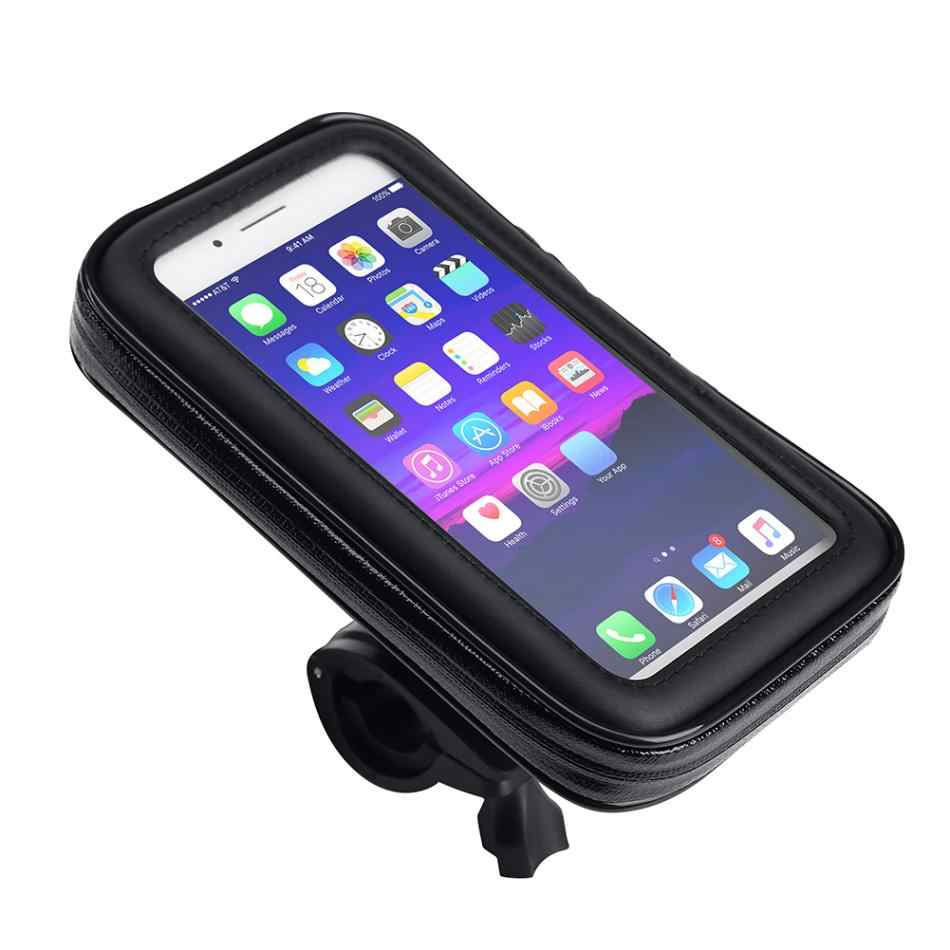 Waterproof Bicycle Mobile Phone Holder Bags Motorcycle Phone Mount Bag 5.5/6.3 inch Bike Touch Screen Phone Bracket Case