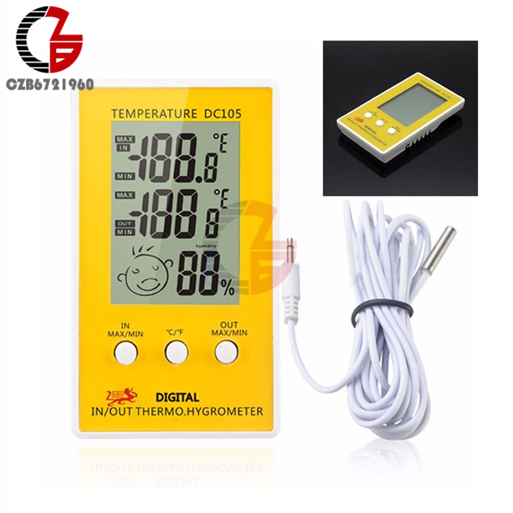electric thermometer wiring best wiring library Electric Mixing Valve dc105 lcd digital thermometer hygrometer weather station temperature humidity meter regulator indoor outdoor detector monitor