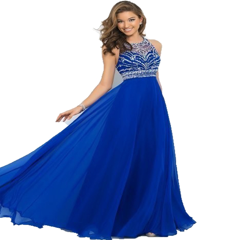 Images of Sparkly Blue Prom Dress - Reikian
