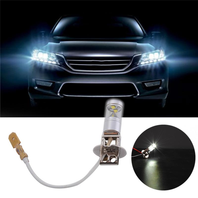 2pcs H3 Led Car Light Fog Headlamp High Power 30w Lamp 6 SMD Auto Car Led Bulbs Light Source Parking 12V 6000K Headlight