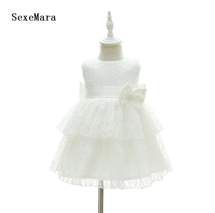 New Baby Girl 1 Year Birthday Dresses Infant Princess Lace Bow Christening Gown Toddler Bebes Baptism Clothes Christmas DressNew Baby Girl 1 Year Birthday Dresses Infant Princess Lace Bow Christening Gown Toddler Bebes Baptism Clothes Christmas Dress
