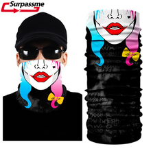 Face Mask Motorcycle Cycling Halloween Head Scarf Neck Warmer Skull Ski Balaclava Headband horror clown Face Shield Mask Outdoor bjmoto cool skeleton skull motorcycle ski headband sport outdoor neck face mask mtb racing cycling windproof scarf balaclava