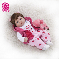 Cute Silicone Rebron Baby Dolls Newborn Baby 16 inch Soft Realistic Princess 45 cm Kids Playmates Baby Reborn Fashion DIY Toys
